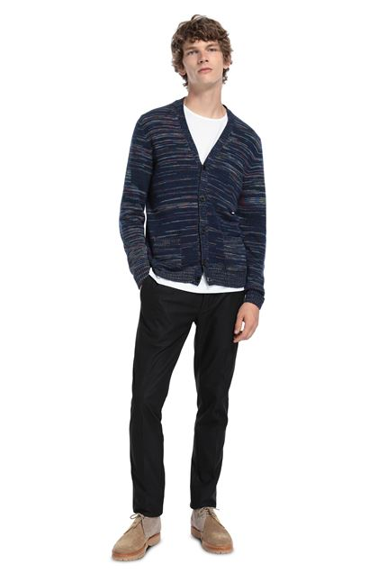 MISSONI Cardigan Dark blue Man - Front