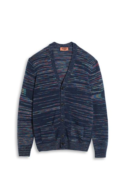 MISSONI Cardigan Dark blue Man - Back