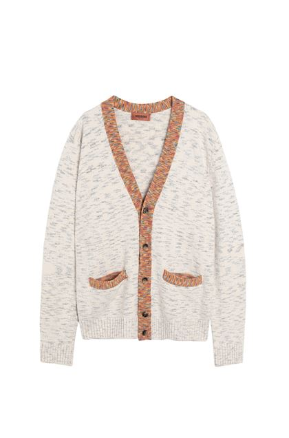 MISSONI Cardigan Ivory Man - Back