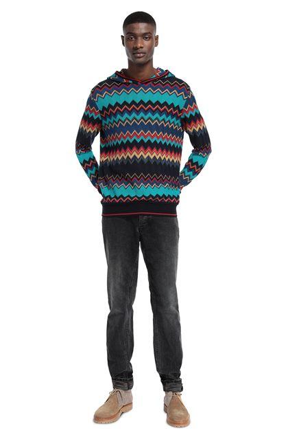 MISSONI Sweatshirt Turquoise Man - Front
