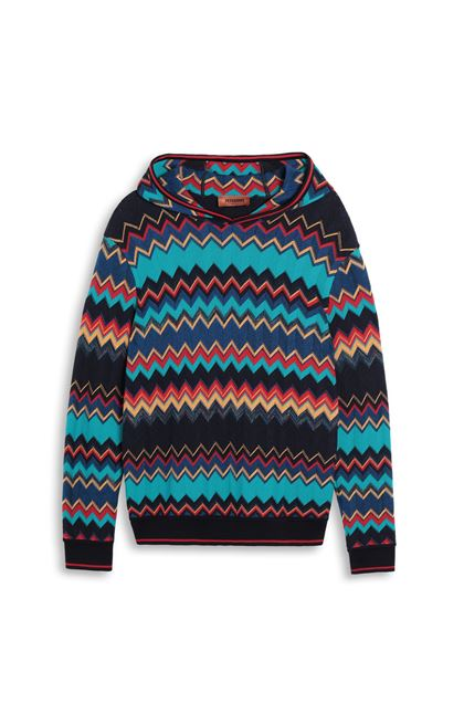 MISSONI Sweatshirt Turquoise Man - Back