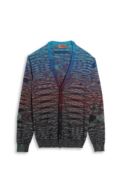 MISSONI Cardigan Blue Man - Back