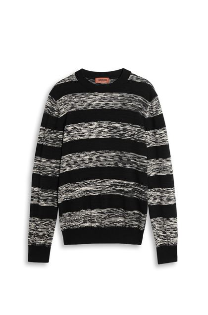 MISSONI Crew-neck Black Man - Back