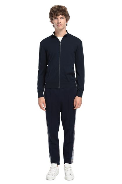 MISSONI Sweatshirt Dark blue Man - Front