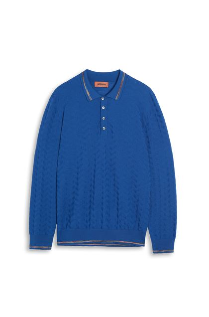 MISSONI Jumper Bright blue Man - Back