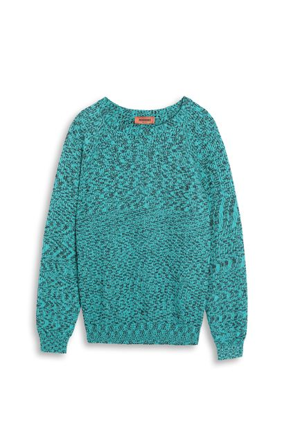 MISSONI Crew-neck Turquoise Man - Back