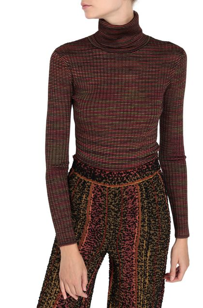 M MISSONI Mock polo neck Black Woman - Front