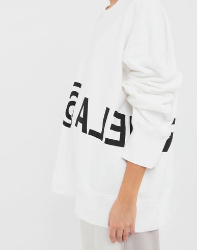 KNITWEAR Reversed logo sweatshirt White
