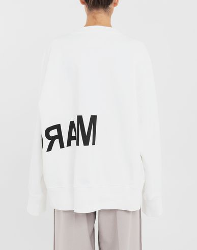 SWEATERS Reversed logo sweatshirt White