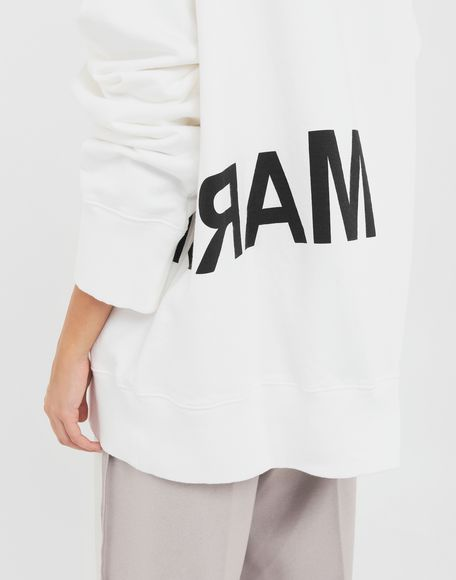 MM6 MAISON MARGIELA Reversed logo sweatshirt Sweatshirt Woman b