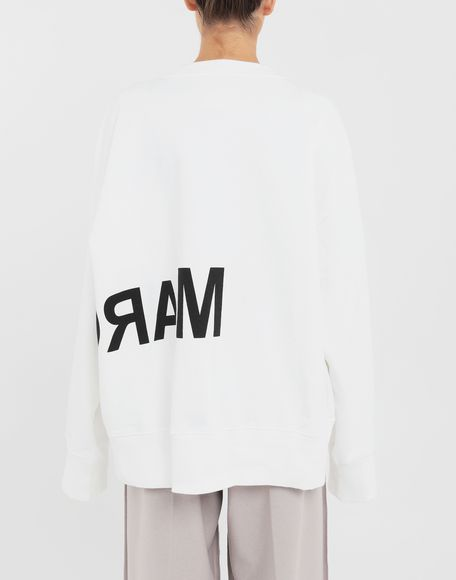 MM6 MAISON MARGIELA Reversed logo sweatshirt Sweatshirt Woman e