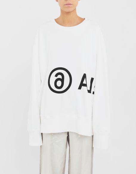 MM6 MAISON MARGIELA Reversed logo sweatshirt Sweatshirt Woman r