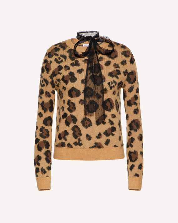 REDValentino Leo Rock jacquard mohair sweater