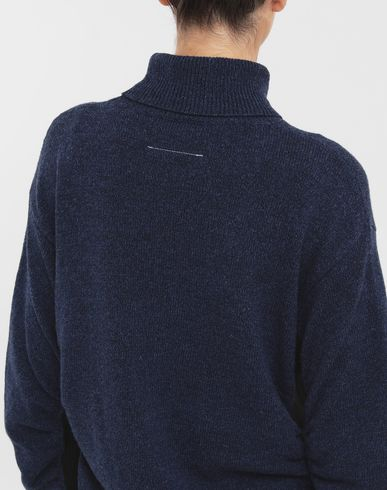 SWEATERS Ruched sweater Blue