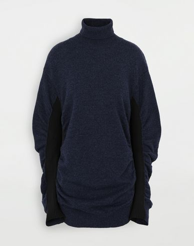 KNITWEAR Ruched sweater Blue