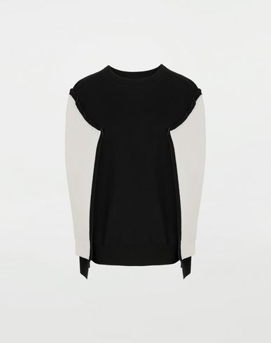 MAISON MARGIELA Shadow bi-colour sweatshirt Sweatshirt Woman f