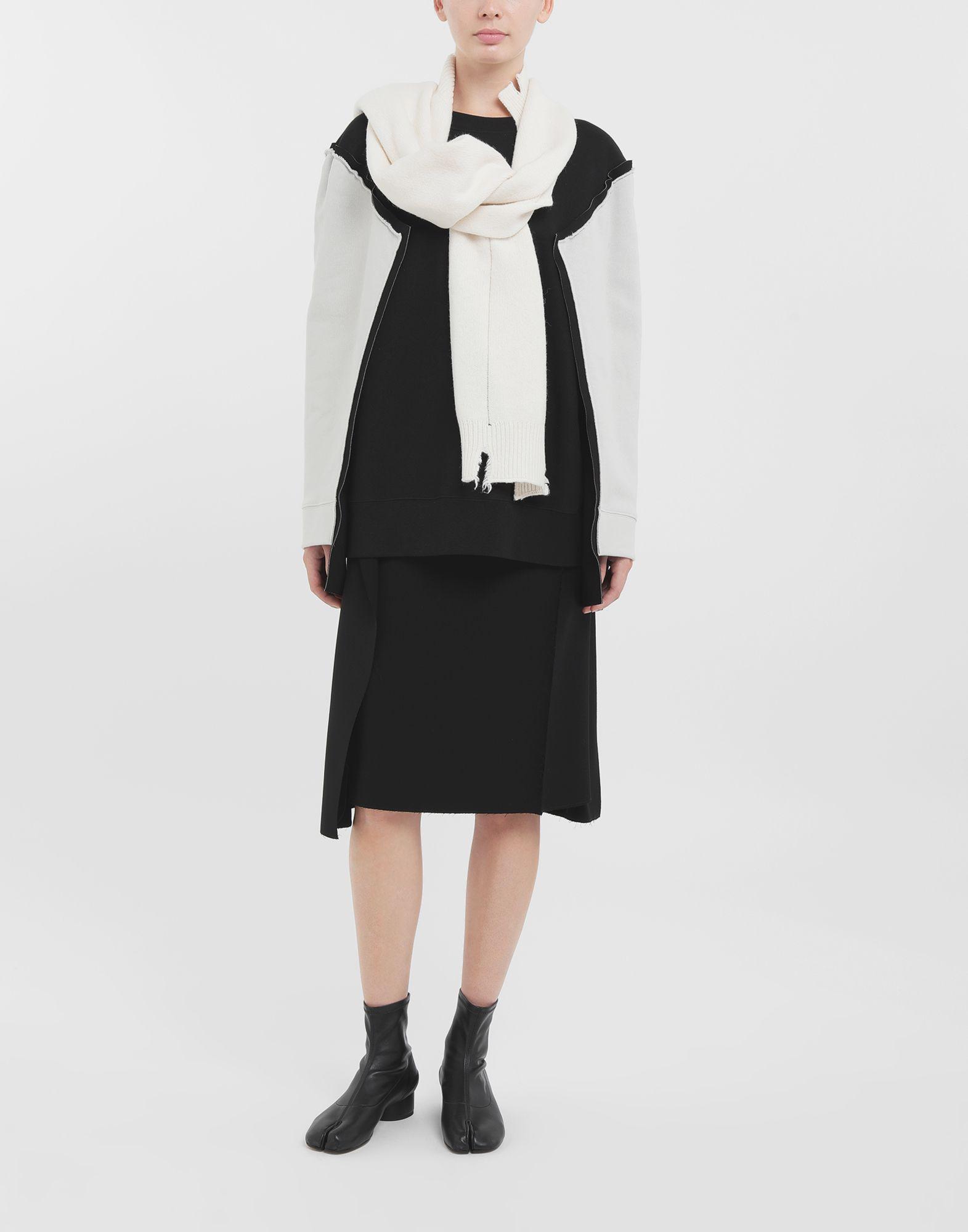 MAISON MARGIELA Shadow bi-colour sweatshirt Sweatshirt Woman b