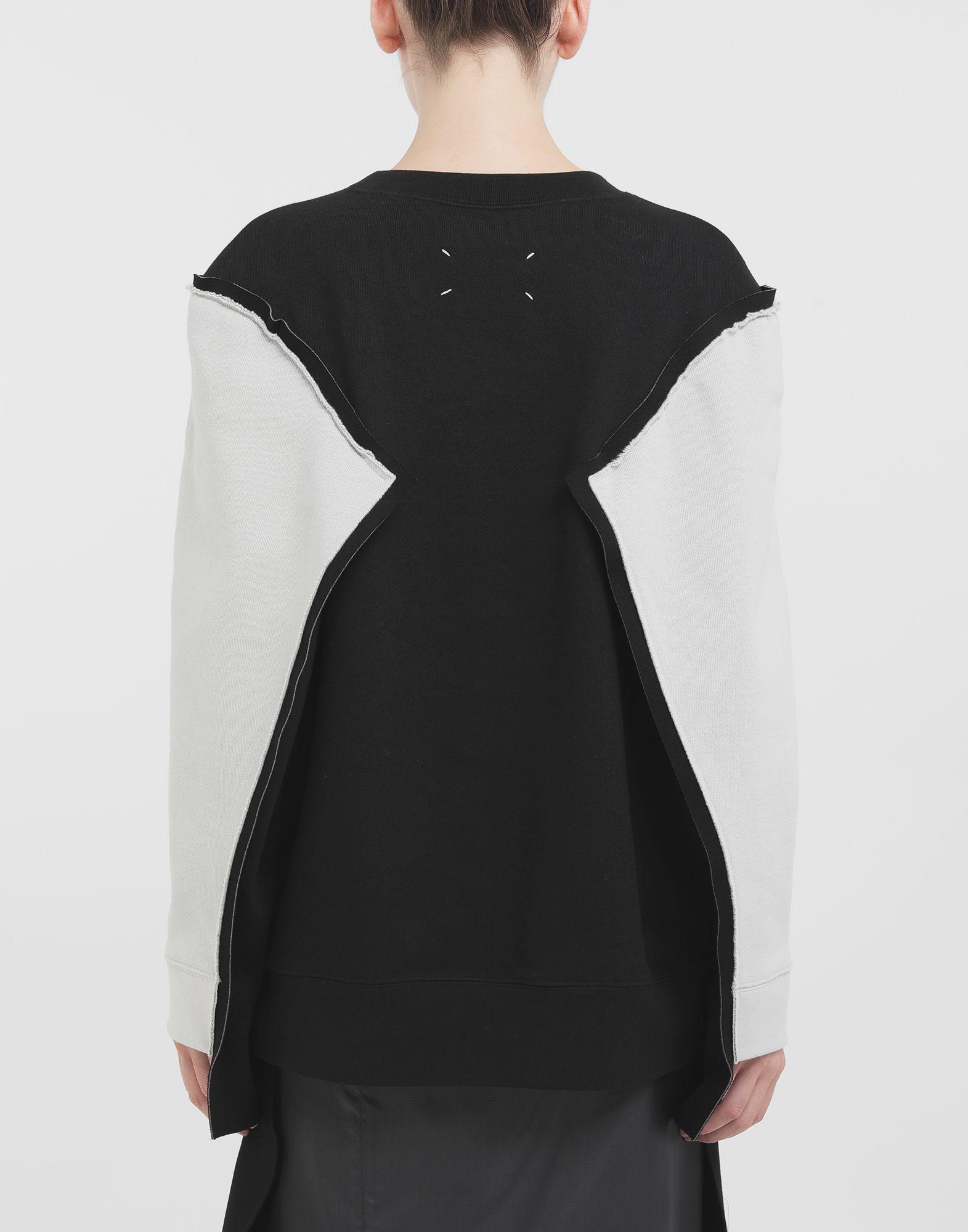 MAISON MARGIELA Shadow bi-colour sweatshirt Sweatshirt Woman d
