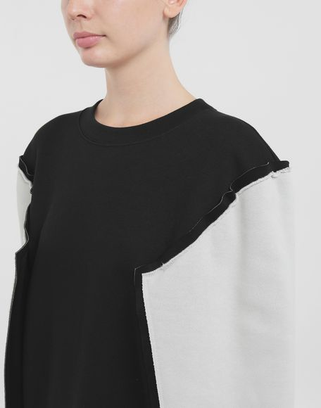 MAISON MARGIELA Shadow bi-colour sweatshirt Sweatshirt Woman a