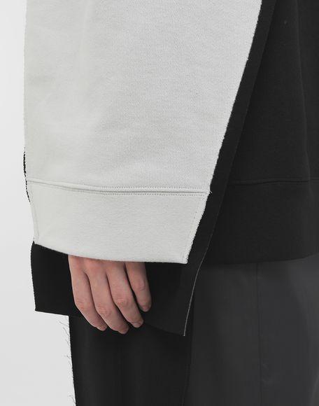 MAISON MARGIELA Shadow bi-colour sweatshirt Sweatshirt Woman e
