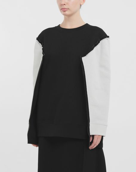 MAISON MARGIELA Shadow bi-colour sweatshirt Sweatshirt Woman r