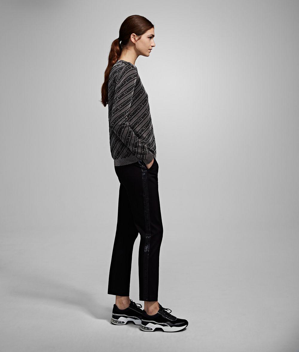 KARL LAGERFELD Logo Lurex Sweater Sweater Woman d