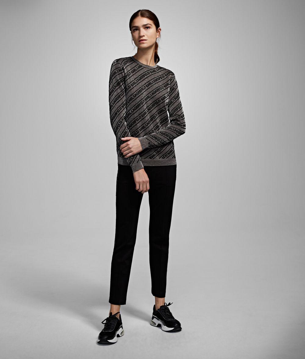 KARL LAGERFELD Logo Lurex Sweater Sweater Woman f
