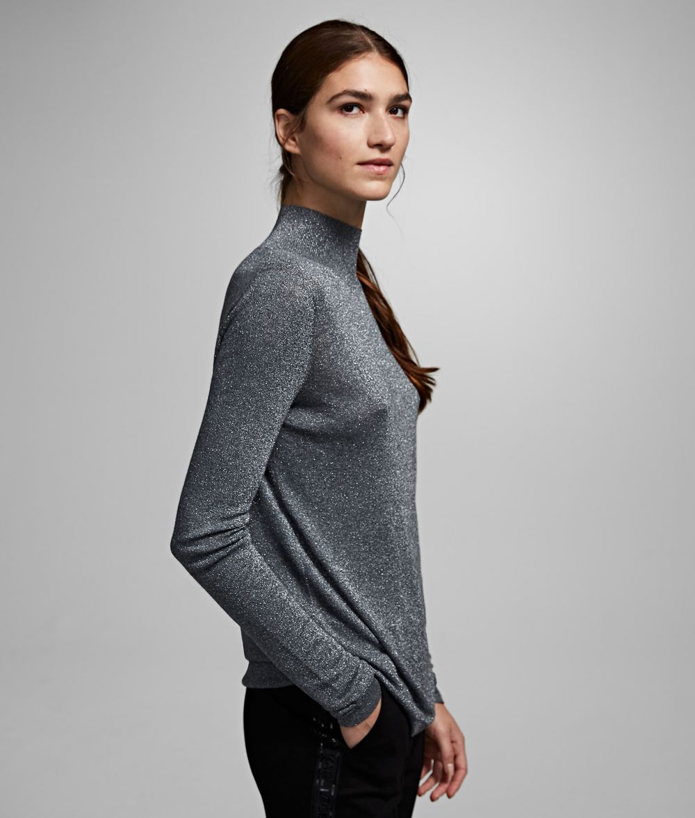 KARL LAGERFELD Cutout Sparkle Sweater Sweater Woman d