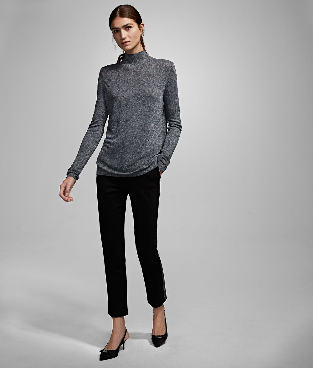 KARL LAGERFELD Cutout Sparkle Sweater Sweater Woman f