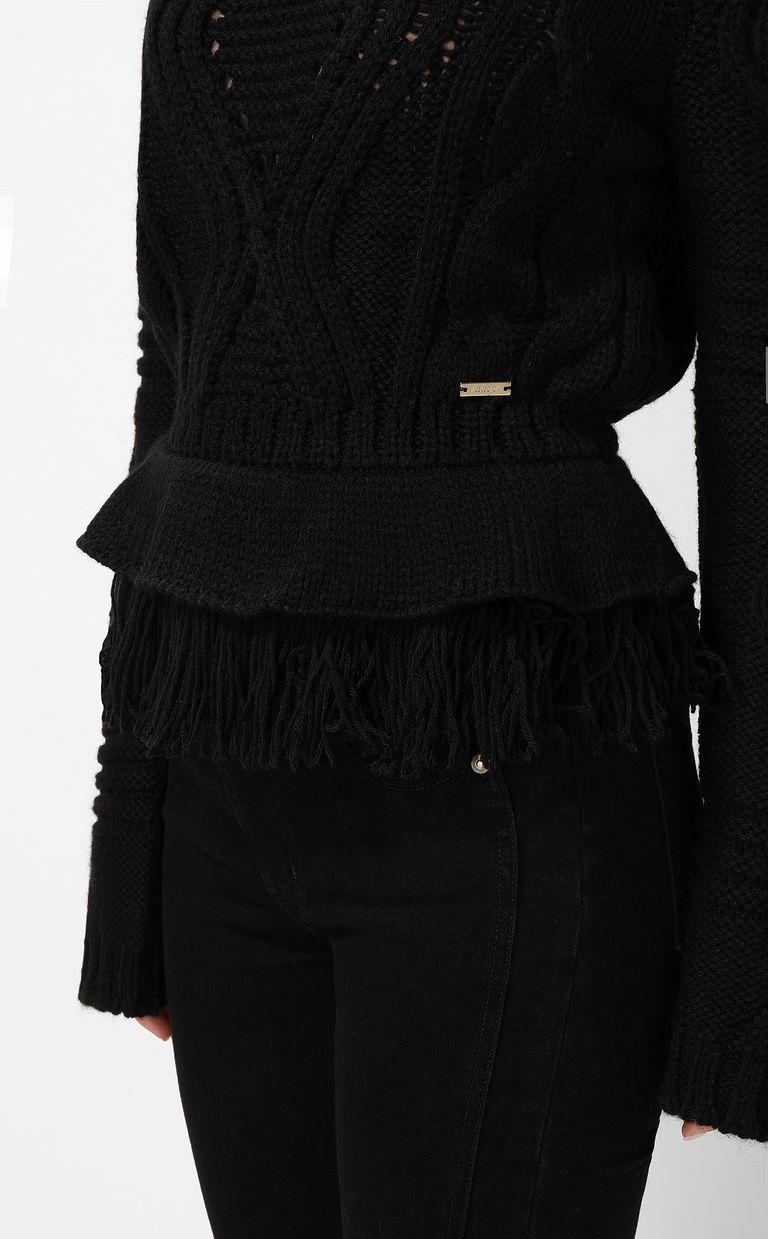 JUST CAVALLI Fringed sweater Crewneck sweater Woman e