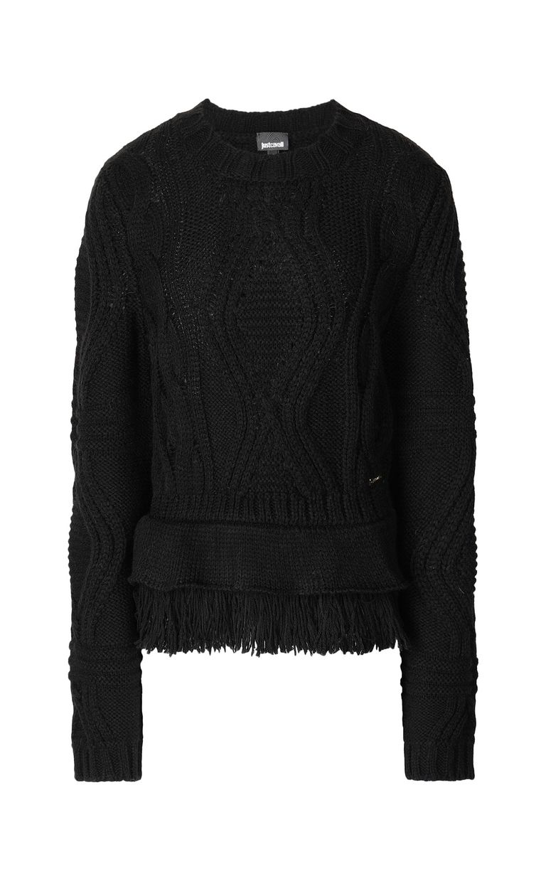 JUST CAVALLI Fringed sweater Crewneck sweater Woman f