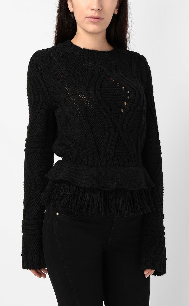 JUST CAVALLI Fringed sweater Crewneck sweater Woman r