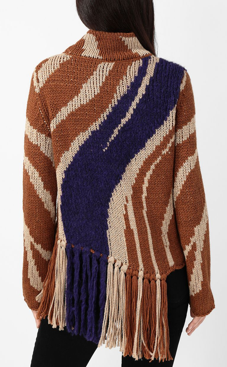 JUST CAVALLI Zebra-stripe sweater High neck sweater Woman a