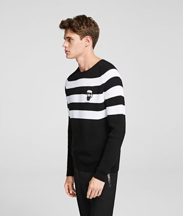 KARL LAGERFELD IKONIK STRIPED JUMPER
