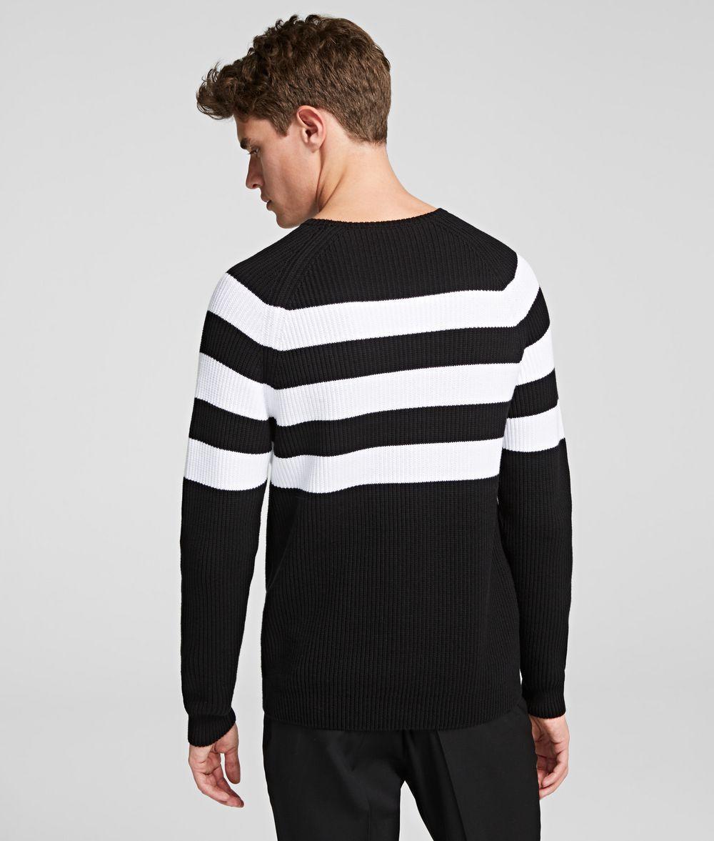 KARL LAGERFELD IKONIK STRIPED JUMPER Sweater Man d
