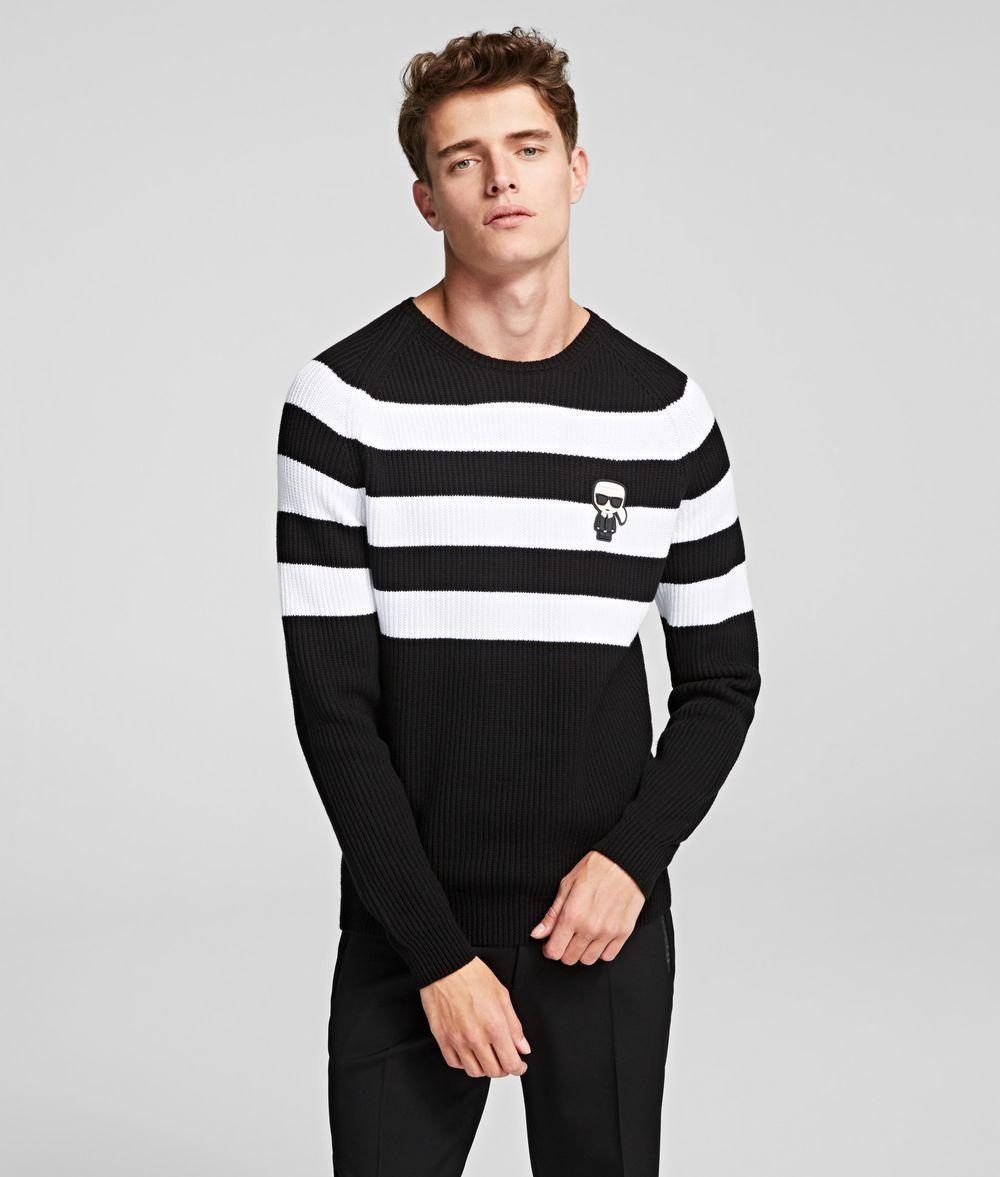 KARL LAGERFELD IKONIK STRIPED JUMPER Sweater Man f