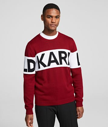 KARL LAGERFELD BLOCK LOGO KNIT JUMPER