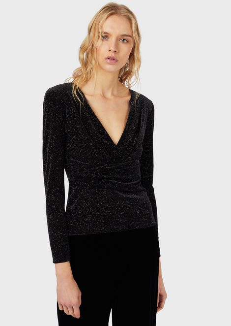 Glittered chenille sweater