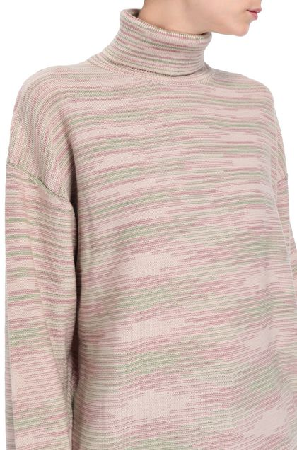 M MISSONI Mock polo neck Pastel pink Woman - Front