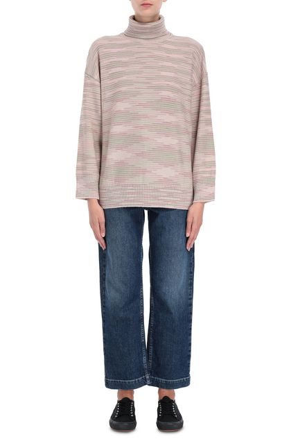 M MISSONI Mock polo neck Pastel pink Woman - Back