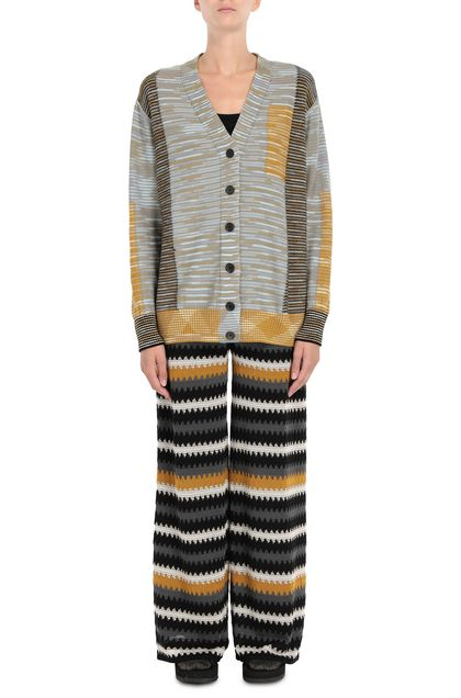M MISSONI Cardigan Sky blue Woman - Back