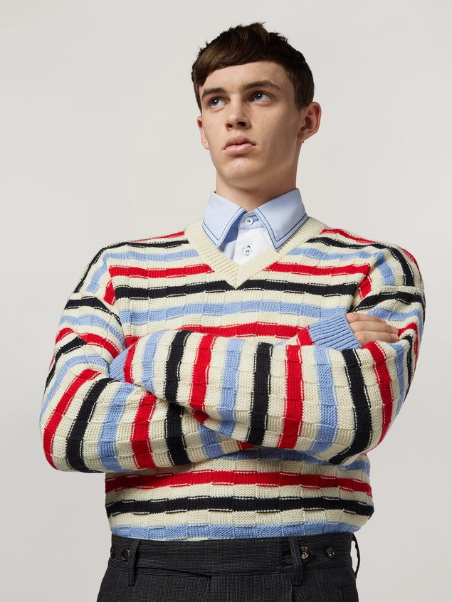 Marni Virgin wool striped knit Man - 4