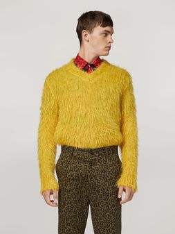 Marni Mohair Knit with brushing finish Man