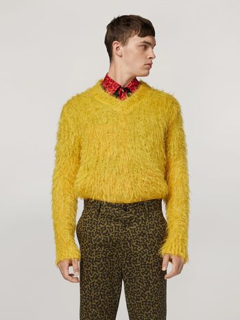 Marni Mohair Knit with brushing finish Man f