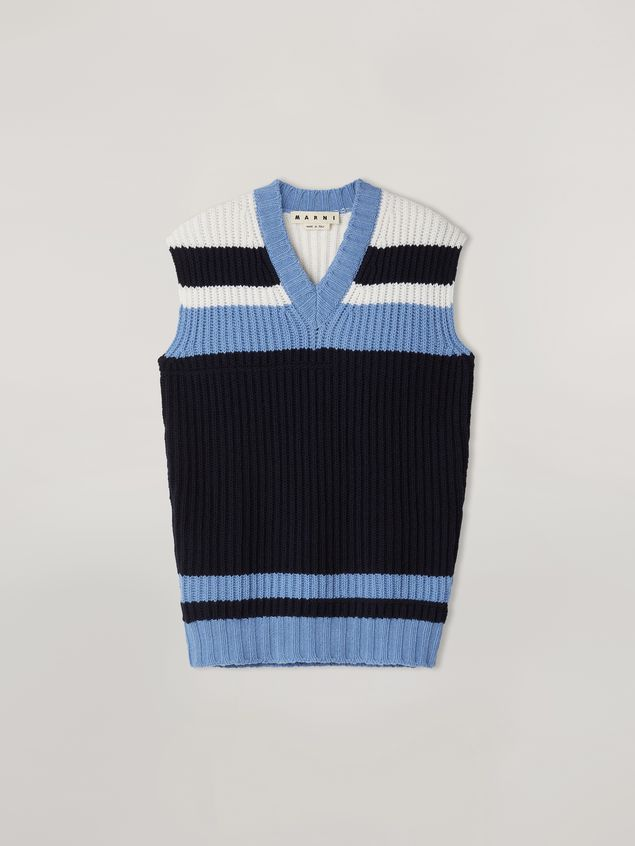 Marni Color-block virgin wool knit Man - 2