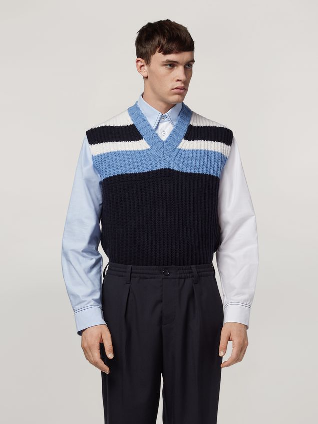 Marni Color-block virgin wool knit Man - 1