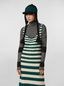 Marni WANDERING IN STRIPES thin-striped black wool turtleneck knit Woman - 1