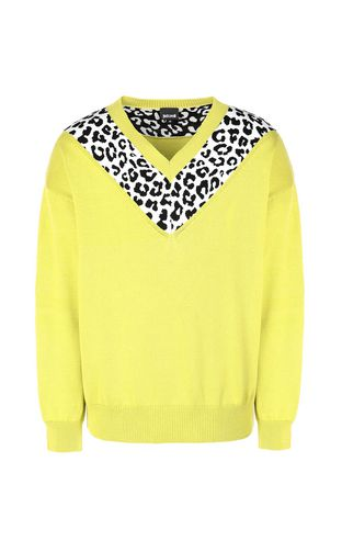 JUST CAVALLI Crewneck Man Pullover with animal patterning f