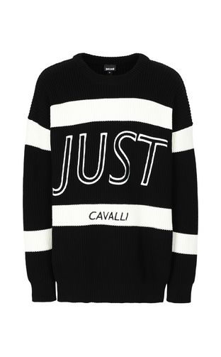 JUST CAVALLI Crewneck sweater Man Pullover with logo f