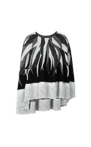 JUST CAVALLI Sweater Woman Cape with fringed detailing f